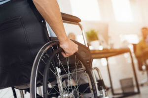 wheelchair during day
