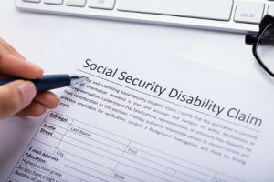 filling out disability form