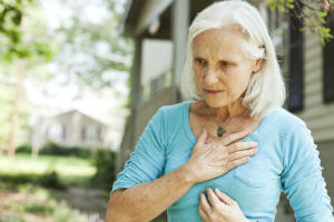 woman with heart condition