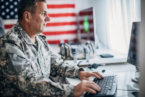 military retiree getting social security