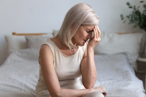 woman suffering from chronic migranes